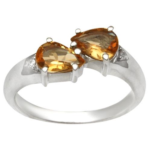 Genuine Sterling Silver citrine Rings for women