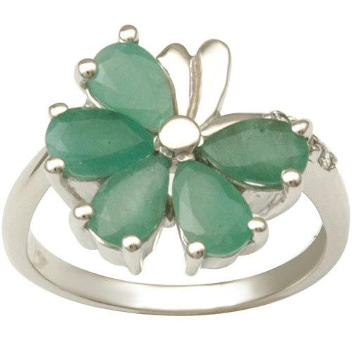 fashion silver ring ruby  emerald silver ring