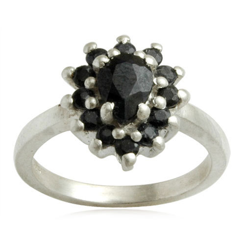 Back onyx silver ring, Trendy silver ring desig