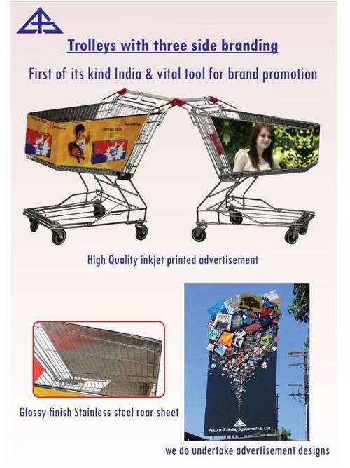 3 Side Branding Shopping Trolley