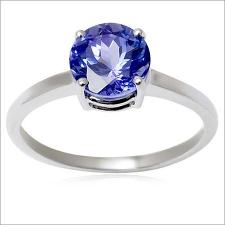 single gemstone ring tanzanite engagement ring womens white gold ring design