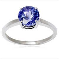 single gemstone ring tanzanite engagement ring womens white gold ring design