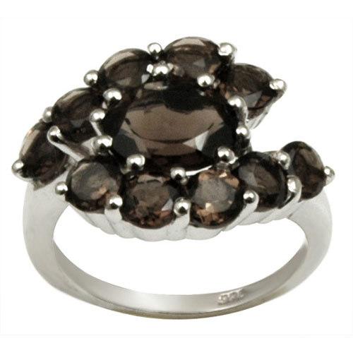smokey ring design in silver designer black ring 925 silver ring for girls