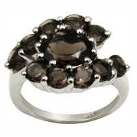 smokey ring design in silver designer black ring 925 silver ring for girls