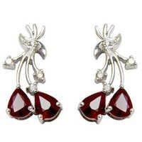 14k Gold Ruby Earrings