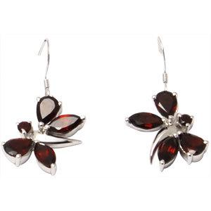 2012 fashion earrings butterfly earring silver ear