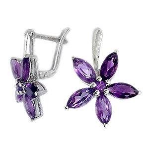 design marques amethyst earring amethyst silver ea
