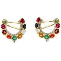 kundan earrings Navratna Earrings navratna jewellery