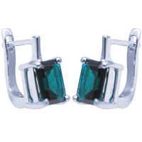 London blue topaz earrings, green earrings