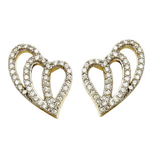Heart Earrings  gold earring  for design earrings