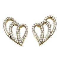 Heart Earrings  gold earring  for design earrings