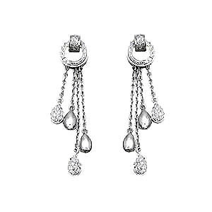 hanging diamond and white gold earrings