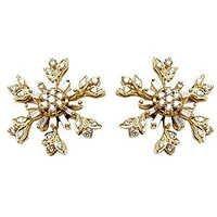 flower earrings Indian design in Gold diamond