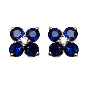 diamond and sapphire baby earrings