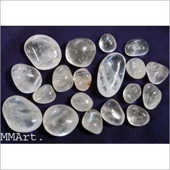 Tumbled gemstone crystal quartz polished pebbles