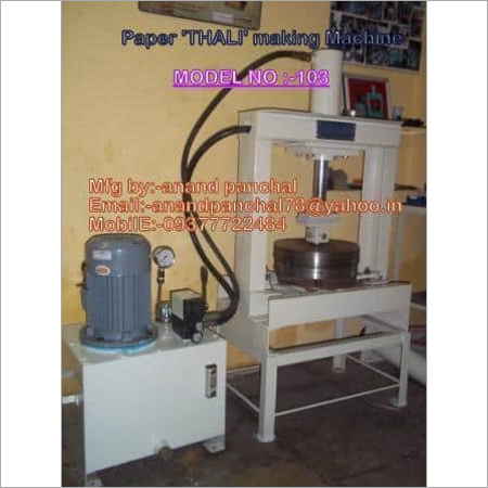 Automatic Paper Plate Thali Making Machine