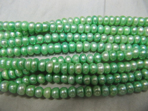 Green Pearl Beads