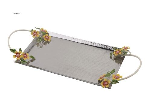 tray with designer handle
