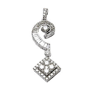 18k white gold for girls in small diamond pendant