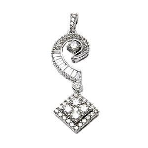 18k white gold for girls in small diamond pendant