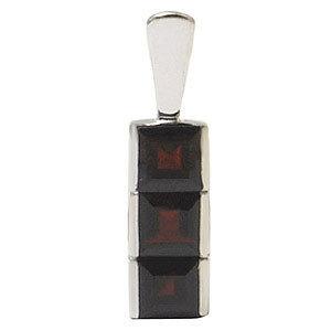 pendant for men and women in garnet Princess gemst