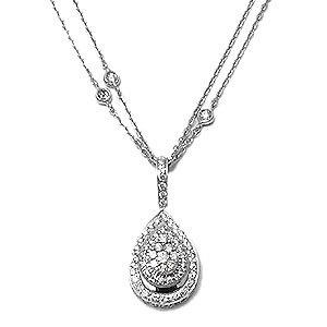 Pave Diamond Pendant Necklace
