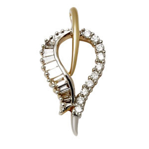18k diamond pendant in yellow gold for small and teen girls