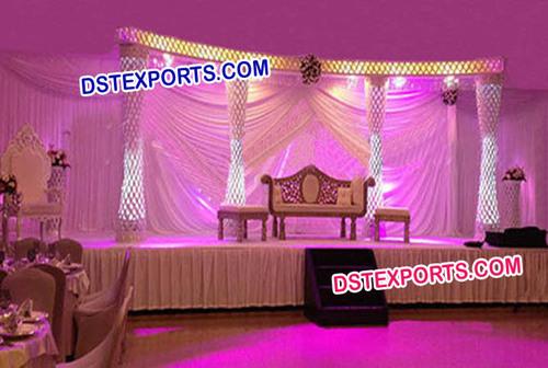 Latest Wedding Crystal Stage Set