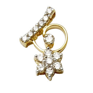 diamond star pendant diamond flower pendant Diamond small pendant