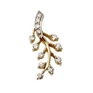 diamond feather pendant girl pendant design daily wear gold pendants