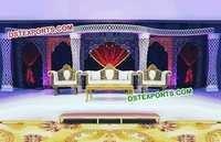 Wedding Stage Stylish Crystal Pillars