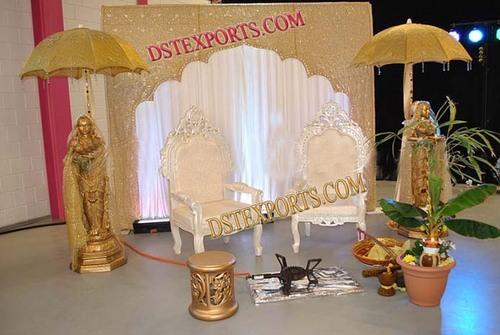 WEDDING GOLDEN MEHANDI STAGE