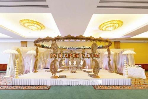 Wedding Wooden Carved Ambi Mandap
