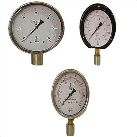 Bourdon Type Pressure Gauges