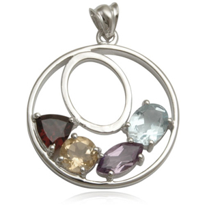 multi colored genuine gemstone 925 sterling silver pendant collection online