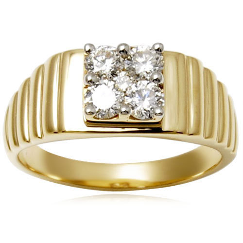Yellow Gold Men's Diamond Ring