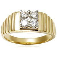 Yellow Gold Men's Diamond Ring