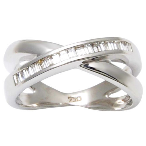Crossed gold diamond rings girls designer diamond rings online fashion rings wholesale