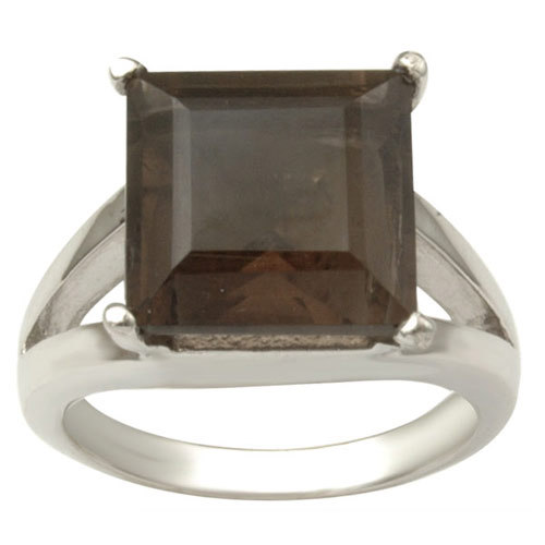 big genuine gemstone  ring square stone sterling s