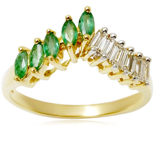 marquise emerald and diamond rinng manufacturer for wholesale