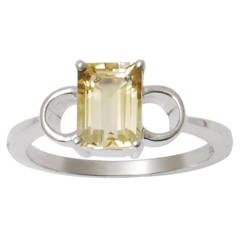 fashion silver ring fancy ring jewelry with genuine gemstone simple citrine ring