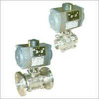 3 Pc. Ball Valve with Pneumatic Rotary Actuator