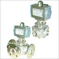 3-4 Way Ball Valve with Pneumatic Rotary Actuator