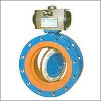 Off-Set Disc Butterfly Valve Double Flange