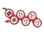 4 Outlet SNAKE Spike Protector Indian Standard with Circuit Breaker Dual Pole Switch