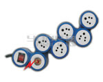 Outlet Snake Spike Protector Indian Standard with Circuit Breaker Dual Pole Illuminated Switch