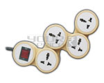 4 Outlet Universal SNAKE Power Strip With Circuit Breaker Dual Pole Illuminated Switch