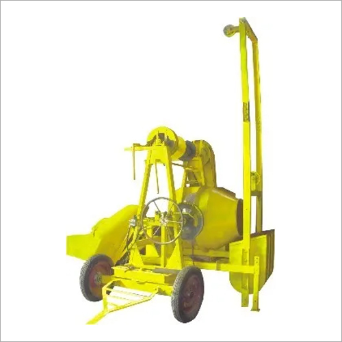 Lift With Concrete Mixer Machine