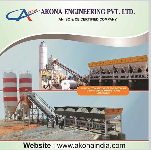 Concrete Batching & Twin-Shaft Mixing Plant