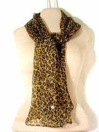 Animal Printed Chiffon Stoles